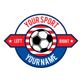 Custom Circle Sign Soccer Sticker