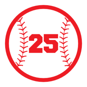 Custom Circle Baseball Sticker with your Number