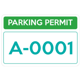 Parking Permit Rectangle 5
