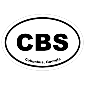 Columbus, Georgia Oval Stickers