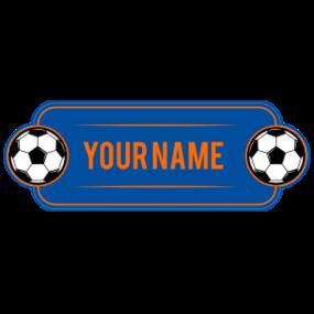 Custom Color Name Soccer Plate