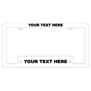 Thin Top-Wide Bottom Customizable Silk Screened White Plastic Frame