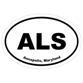 Annapolis, Maryland Oval Stickers