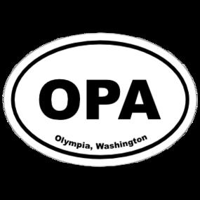 Olympia, Washington Oval Stickers