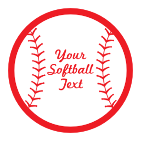 Custom Softball sticker with Seams and Text