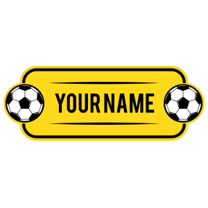 Custom Reverse Color Name Soccer Plate