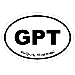 Gulfport, Mississippi Oval Stickers