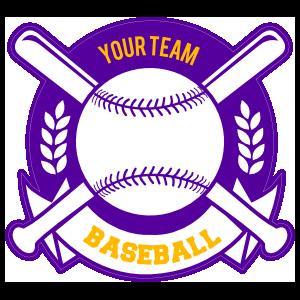 Custom Baseball Sticker with Banner