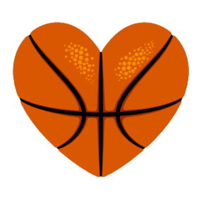 Custom Heart-Love Basketball Sticker
