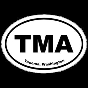 Tacoma, Washington Oval Stickers