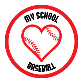 Custom Love Baseball Circle Sticker
