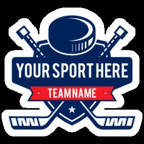 Custom Ice Hockey Sticks and Puck Sticker
