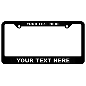 Custom Black Plastic Frame with Raised Lettering