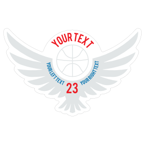 Custom Basketball Wings with Your Text