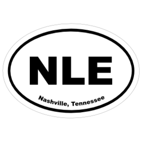 Nashville, Tennessee Oval Stickers