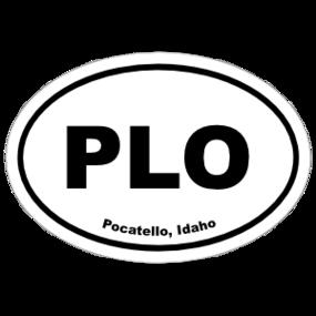 Pocatello, Idaho Oval Stickers