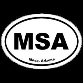 Mesa, Arizona Oval Stickers