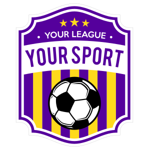 Custom Old Soccer Sign Sticker