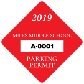 School Diamond Parking Permit