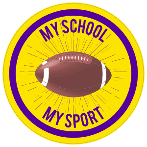 Custom Full Football Circle Sticker with Burst