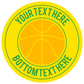 Custom Simple Basketball Circle Sticker