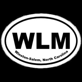 Winston-Salem, North Carolina Oval Stickers