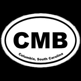 Columbia, South Carolina Oval Stickers