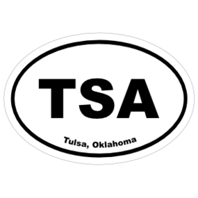 Tulsa, Oklahoma Oval Stickers