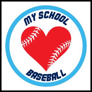 Custom Baseball Sticker with Heart Seams and text