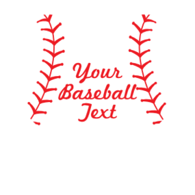 Custom Heart Baseball Sticker with Text
