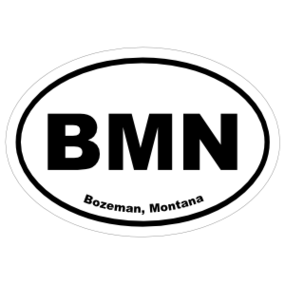 Bozeman, Montana Oval Stickers