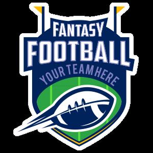 Custom Fantasy Football Team Sticker with Accents