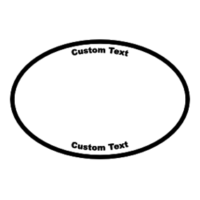 Custom Oval Sticker with Clipart