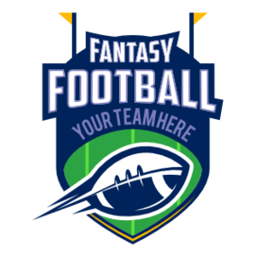 Custom Fantasy Football Team Sticker with Accents