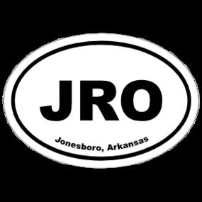 Jonesboro, Arkansas Oval Stickers