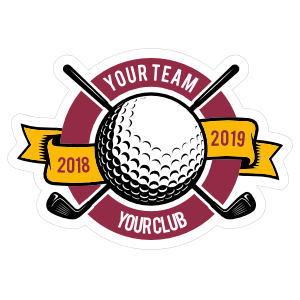 Custom Golf Clubs with Banner Circle Sticker