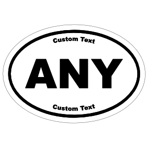 Custom Oval Stickers with Text