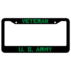 Veteran United States Army License Plate Frame