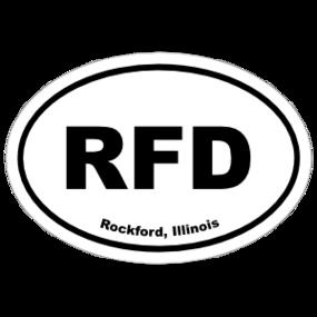 Rockford, Illinois Oval Stickers