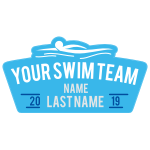 Custom Personal Swimmer Sticker