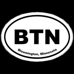 Bloomington, Minnesota Oval Stickers