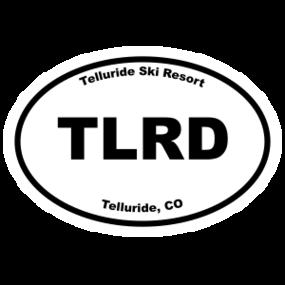Telluride Ski Resort Oval Sticker