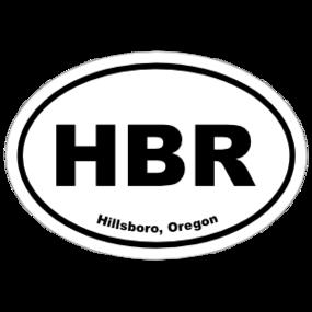 Hillsboro, Oregon Oval Stickers