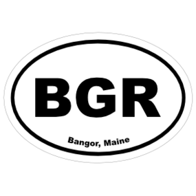 Bangor, Maine Oval Stickers