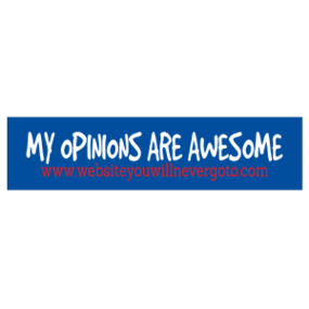 My Opinions Customizable Bumper Sticker