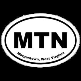 Morgantown, West Virginia Oval Stickers