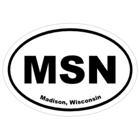 Madison, Wisconsin Oval Stickers