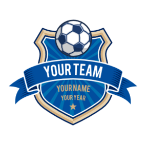 Custom Soccer Badge and Banner Sticker