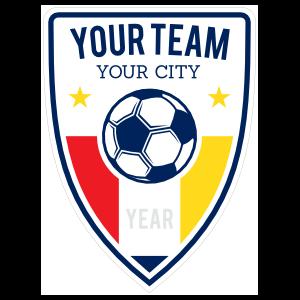 Custom Arrow Shape Soccer Badge Sticker