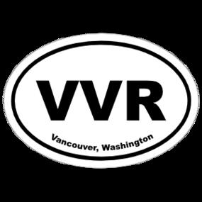 Vancouver, Washington Oval Stickers